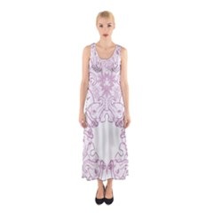 Ganja Ganesh Pattern (pink) Sleeveless Maxi Dress