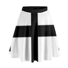 Cross Potent High Waist Skirt