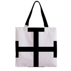 Cross Potent  Zipper Grocery Tote Bag