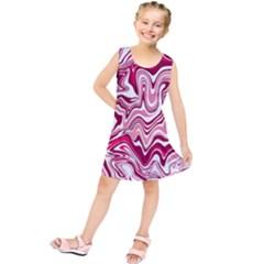 Pink Marble Pattern Kids  Tunic Dress
