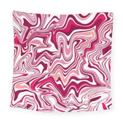 Pink Marble Pattern Square Tapestry (large)
