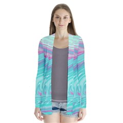 Iridescent Marble Pattern Cardigans