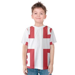 Byzantine Imperial Flag, 14th Century  Kids  Cotton Tee