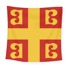 Byzantine Imperial Flag, 14th Century Square Tapestry (large)