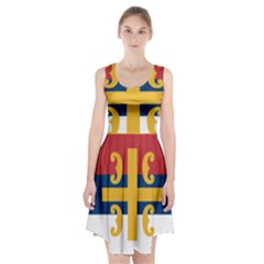 Flag Of The Serbian Orthodox Church Racerback Midi Dress