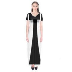 Tau Cross  Short Sleeve Maxi Dress