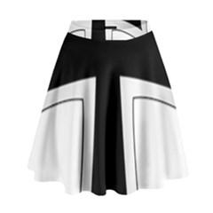Cross of the Teutonic Order High Waist Skirt