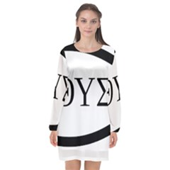 Ichthys  jesus Christ, Son Of God, Savior  Symbol  Long Sleeve Chiffon Shift Dress