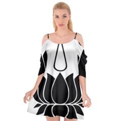 Ayyavazhi Symbol  Cutout Spaghetti Strap Chiffon Dress