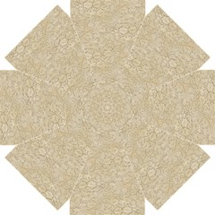 Old Floral Crochet Lace Pattern beige bleached Straight Umbrellas