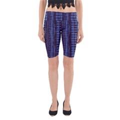 Wrinkly Batik Pattern   Blue Black Yoga Cropped Leggings