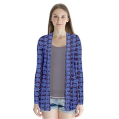 Wrinkly Batik Pattern   Blue Black Cardigans