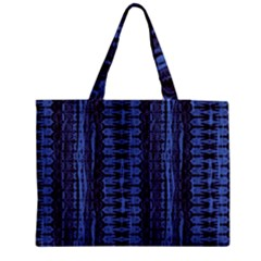 Wrinkly Batik Pattern   Blue Black Medium Tote Bag