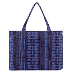 Wrinkly Batik Pattern   Blue Black Medium Zipper Tote Bag