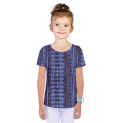 Wrinkly Batik Pattern   Blue Black Kids  One Piece Tee