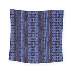 Wrinkly Batik Pattern   Blue Black Square Tapestry (small)