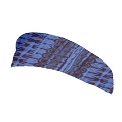 Wrinkly Batik Pattern   Blue Black Stretchable Headband