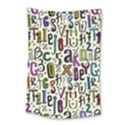Colorful Retro Style Letters Numbers Stars Small Tapestry View1