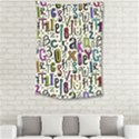 Colorful Retro Style Letters Numbers Stars Small Tapestry View2