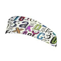 Colorful Retro Style Letters Numbers Stars Stretchable Headband