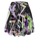 Chaos With Letters Black Multicolored High Waist Skirt View2