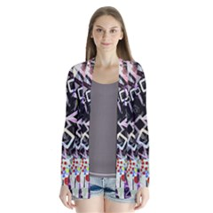 Chaos With Letters Black Multicolored Cardigans