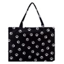 Footprints Cat White Black Medium Tote Bag View1
