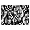 Zebra Stripes Pattern Traditional Colors Black White Samsung Galaxy Tab 8.9  P7300 Flip Case View1