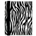 Zebra Stripes Pattern Traditional Colors Black White Samsung Galaxy Tab 8.9  P7300 Flip Case View3