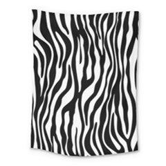 Zebra Stripes Pattern Traditional Colors Black White Medium Tapestry