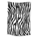 Zebra Stripes Pattern Traditional Colors Black White Large Tapestry View1