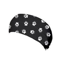 Footprints Dog White Black Yoga Headband