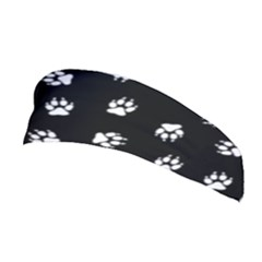 Footprints Dog White Black Stretchable Headband