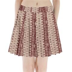 Wrinkly Batik Pattern Brown Beige Pleated Mini Skirt