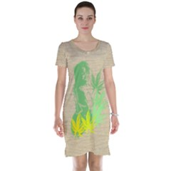 Og Ganja Girl Short Sleeve Nightdress