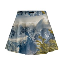 Snowy Andes Mountains, El Chalten Argentina Mini Flare Skirt