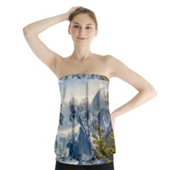 Snowy Andes Mountains, El Chalten Argentina Strapless Top