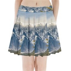 Snowy Andes Mountains, El Chalten Argentina Pleated Mini Skirt