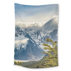 Snowy Andes Mountains, El Chalten Argentina Large Tapestry