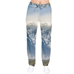 Snowy Andes Mountains, El Chalten Argentina Drawstring Pants
