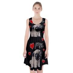 Love pugs Racerback Midi Dress