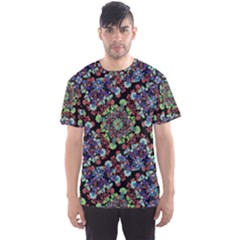 Colorful Floral Collage Pattern Men s Sport Mesh Tee