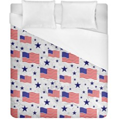 Flag Of The Usa Pattern Duvet Cover (california King Size)