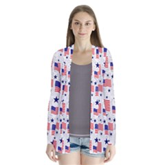 Flag Of The Usa Pattern Cardigans