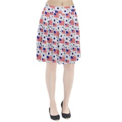 Flag Of The Usa Pattern Pleated Skirt