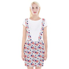 Flag Of The Usa Pattern Braces Suspender Skirt