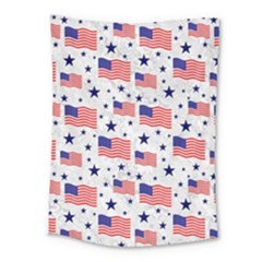 Flag Of The Usa Pattern Medium Tapestry