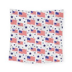 Flag Of The Usa Pattern Square Tapestry (small)