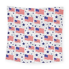 Flag Of The Usa Pattern Square Tapestry (large)