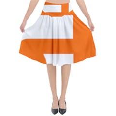 Om Symbol In Jainism  Flared Midi Skirt